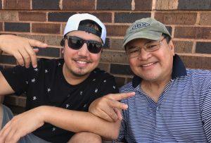 Ed Binanay (right) with his son David Binanay.