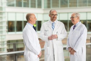 Left to right: Dr. Brad Figler, Dr. Eric Wallen and Dr. Culley Carson