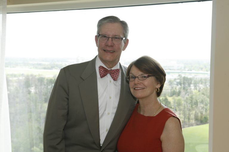 "Image of Drs. Daniels and Kathleen ""Katchy"" Clark-Pearson In Front of Window"