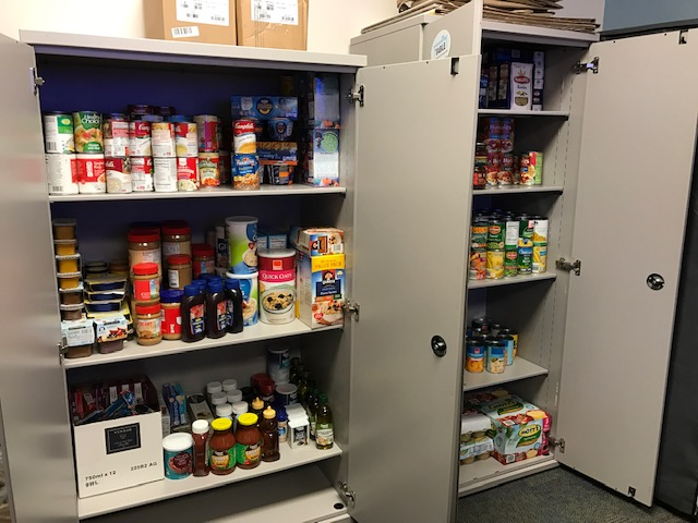 The food pantry at UNC Children's Primary Care Clinic on East Franklin Street in Chapel Hill.