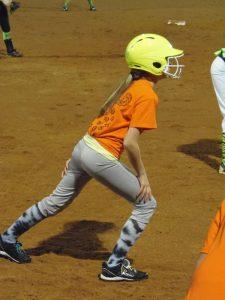 Kaylan at her softball game