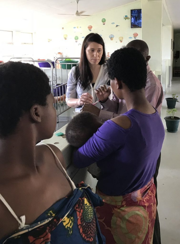 Dr. Quinsey consenting Malawi residents prior to medical procedures.